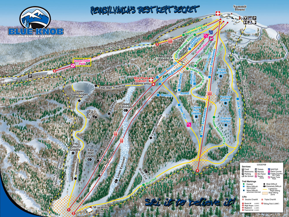 Blue Knob Resort ski map