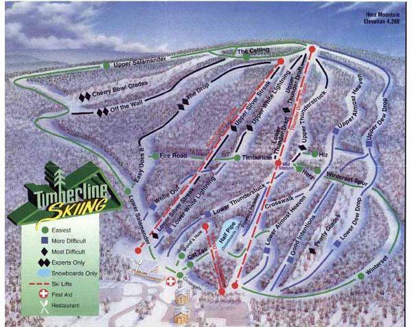 skiing Timberline Four Seasons Maryland